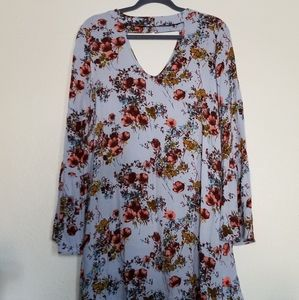 Mossimo Long Sleeve Floral Dress